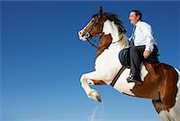 Horse Rearing with Businessman on Its Back    Stock Photo - Premium Rights-Managednull, Code: 700-01185194