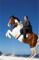 Horse Rearing with Businessman on Its Back    Stock Photo - Premium Rights-Managednull, Code: 700-01185197