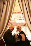 Couple at the Boccaccio Ballroom, Grand Hotel Bohemia, Prague, Czech Republic