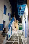 Man Sitting on Steps, Mykonos Town, Mykonos, Greece    Stock Photo - Premium Rights-Managed, Artist: R. Ian Lloyd, Code: 700-01185436