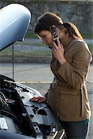 stalled car - Woman With Car Trouble    Stock Photo - Premium Rights-Managednull, Code: 700-01194739