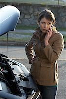 stalled car - Woman With Car Trouble    Stock Photo - Premium Rights-Managednull, Code: 700-01194740