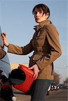 stalled car - Woman Filling Gas Tank    Stock Photo - Premium Rights-Managednull, Code: 700-01194743