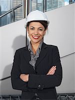 Portrait of Businesswoman in Hard Hat    Stock Photo - Premium Royalty-Freenull, Code: 600-01194830