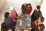 Family Eating Outdoors    Stock Photo - Premium Rights-Managed, Artist: Masterfile, Code: 700-01195385