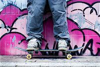 Person Standing on Skateboard    Stock Photo - Premium Rights-Managednull, Code: 700-01196144