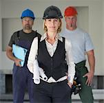 Portrait of Group of Contractors    Stock Photo - Premium Royalty-Free, Artist: Masterfile, Code: 600-01196685