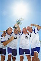 soccer player (male) - Soccer Players With Trophy    Stock Photo - Premium Rights-Managednull, Code: 700-01199275