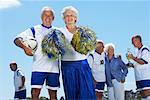 Soccer Players and Cheerleader on Soccer Pitch Stock Photo - Premium Rights-Managed, Artist: Masterfile, Code: 700-01199280