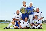 Portrait of Soccer Players and Cheerleaders Stock Photo - Premium Rights-Managed, Artist: Masterfile, Code: 700-01199281