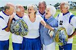 Soccer Players and Cheerleaders on Soccer Pitch Stock Photo - Premium Rights-Managed, Artist: Masterfile, Code: 700-01199282