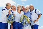 Soccer Players and Cheerleaders Stock Photo - Premium Rights-Managed, Artist: Masterfile, Code: 700-01199283