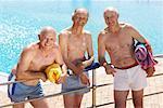 Portrait of Men at Swimming Pool