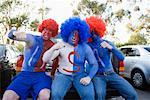 Sports Fans at Tailgate Party    Stock Photo - Premium Rights-Managed, Artist: Tim Mantoani, Code: 700-01199365