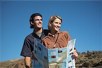 Couple Hiking, Looking at Map    Stock Photo - Premium Rights-Managednull, Code: 700-01199896