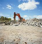 Backhoe at Construction Site Stock Photo - Premium Rights-Managed, Artist: Derek Shapton, Code: 700-01223375