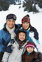 Portrait of Family on Ski Hill, Whistler, British Columbia, Canada    Stock Photo - Premium Royalty-Freenull, Code: 600-01224123