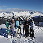 Group Portrait at Top of Ski Hill Whistler, BC, Canada
