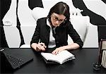 Businesswoman Working at Desk    Stock Photo - Premium Royalty-Free, Artist: Masterfile, Code: 600-01224420