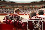 Bull Fighters at Arena, Fiesta de San Fermin, Pamplona, Spain    Stock Photo - Premium Rights-Managed, Artist: Mike Randolph, Code: 700-01224402