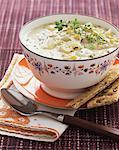 Bowl of corn chowder Stock Photo - Premium Royalty-Free, Artist: Aflo Relax, Code: 621-01225289
