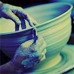 pottery wheel Stock Photo - Premium Royalty-Free, Artist: Robert Harding Images, Code: 621-01226241