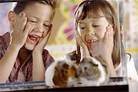 Students with Hamsters Stock Photo - Premium Royalty-Freenull, Code: 621-01229319
