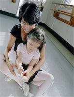 Putting On Ballet Slippers Stock Photo - Premium Royalty-Freenull, Code: 621-01230243