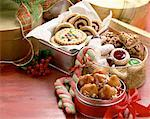 Tins of Christmas Sweets Stock Photo - Premium Royalty-Freenull, Code: 621-01230472