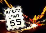 Speed Limit Sign Stock Photo - Premium Royalty-Free, Artist: Oriental Touch           , Code: 621-01230684