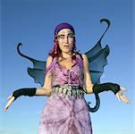 Woman wearing fairy costume/ Stock Photo - Premium Royalty-Free, Artist: Kevin Dodge, Code: 604-01232496