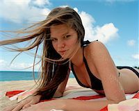 Teenager at Beach    Stock Photo - Premium Rights-Managednull, Code: 700-01235110