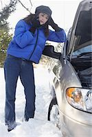 stalled car - Woman With Car Trouble    Stock Photo - Premium Rights-Managednull, Code: 700-01235320