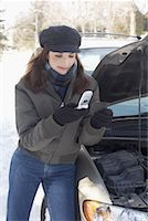 stalled car - Woman With Car Trouble    Stock Photo - Premium Rights-Managednull, Code: 700-01235322