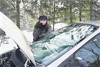 stalled car - Woman Having Car Trouble    Stock Photo - Premium Rights-Managednull, Code: 700-01235324