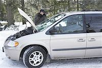 stalled car - Woman Having Car Trouble    Stock Photo - Premium Rights-Managednull, Code: 700-01235325