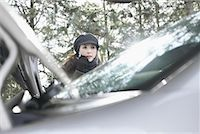 stalled car - Woman Having Car Trouble    Stock Photo - Premium Rights-Managednull, Code: 700-01235326