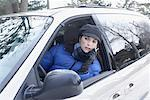 Woman Using Cellular Phone in Car    Stock Photo - Premium Rights-Managed, Artist: Jerzyworks, Code: 700-01235332