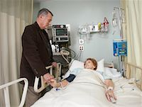 Husband Visiting Wife in Hospital    Stock Photo - Premium Royalty-Freenull, Code: 600-01235406