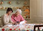 Woman Helping Senior Woman With Finances