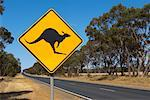 Kangaroo Sign, Victoria, Australia    Stock Photo - Premium Rights-Managed, Artist: JW, Code: 700-01236429