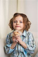 Portrait of Girl with Hamster    Stock Photo - Premium Rights-Managednull, Code: 700-01236571