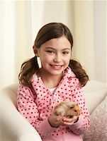 Portrait of Girl with Hamster    Stock Photo - Premium Rights-Managednull, Code: 700-01236586