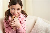 Portrait of Girl with Hamster    Stock Photo - Premium Rights-Managednull, Code: 700-01236588