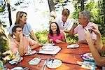 Family Birthday Party    Stock Photo - Premium Rights-Managed, Artist: Peter Barrett, Code: 700-01236651