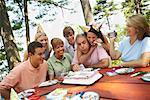 Family Birthday Party    Stock Photo - Premium Rights-Managed, Artist: Peter Barrett, Code: 700-01236655