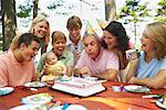 Family Birthday Party    Stock Photo - Premium Rights-Managed, Artist: Peter Barrett, Code: 700-01236656