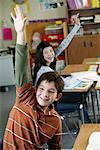Children in Classroom    Stock Photo - Premium Rights-Managed, Artist: David Schmidt, Code: 700-01236803
