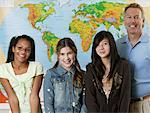 Portrait of Students With Teacher    Stock Photo - Premium Rights-Managed, Artist: David Schmidt, Code: 700-01236810