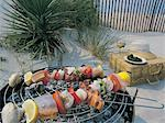 Grilled Seafood Brochettes Stock Photo - Premium Royalty-Free, Artist: F1Online, Code: 618-01243319